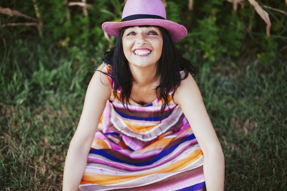adele 1961 collezione primavera estate 2015, Sandra Bacci , abito a righe Priapo