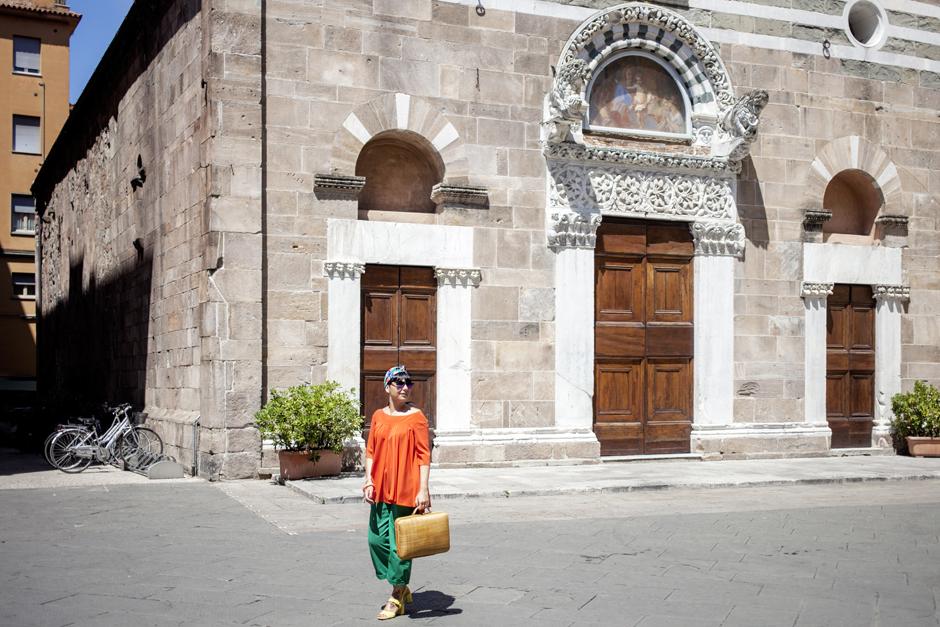 naracamicie 2015, camicia arancio, Sandra Bacci, Lucca
