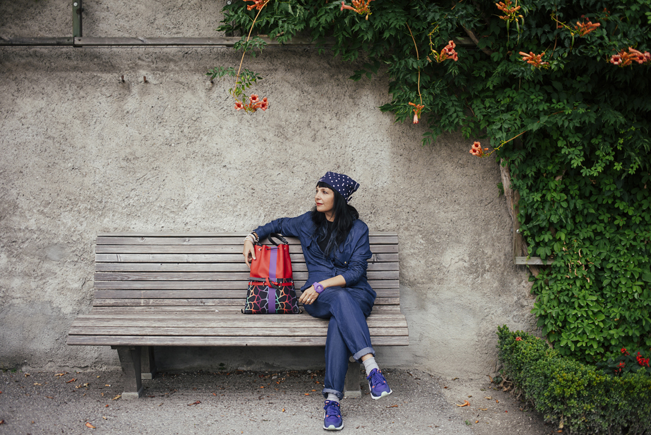 come vestirsi in vacanza, tuta di Jeans H&M , sandra Bacci. Salisburgo