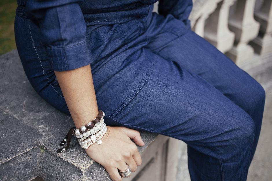tuta di jeans denim H&M