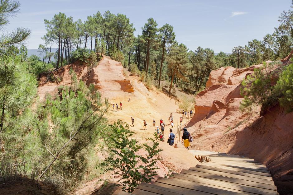 Provenza - Terra di contrasti - Le Ocre di Roussillon, sentiero