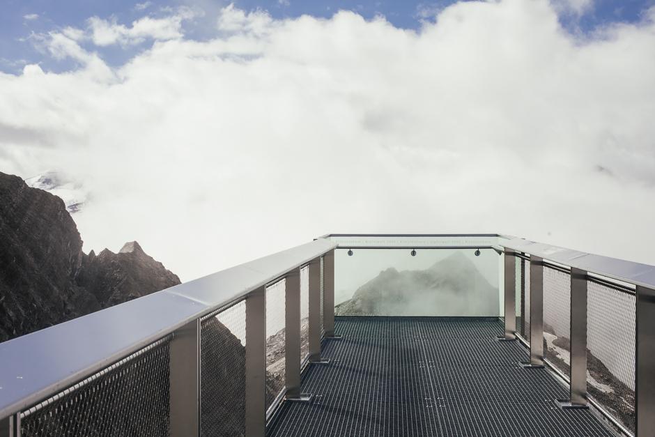 veduta dal ghiacciaio Kitzsteinhorn in Austria , top of salzburg