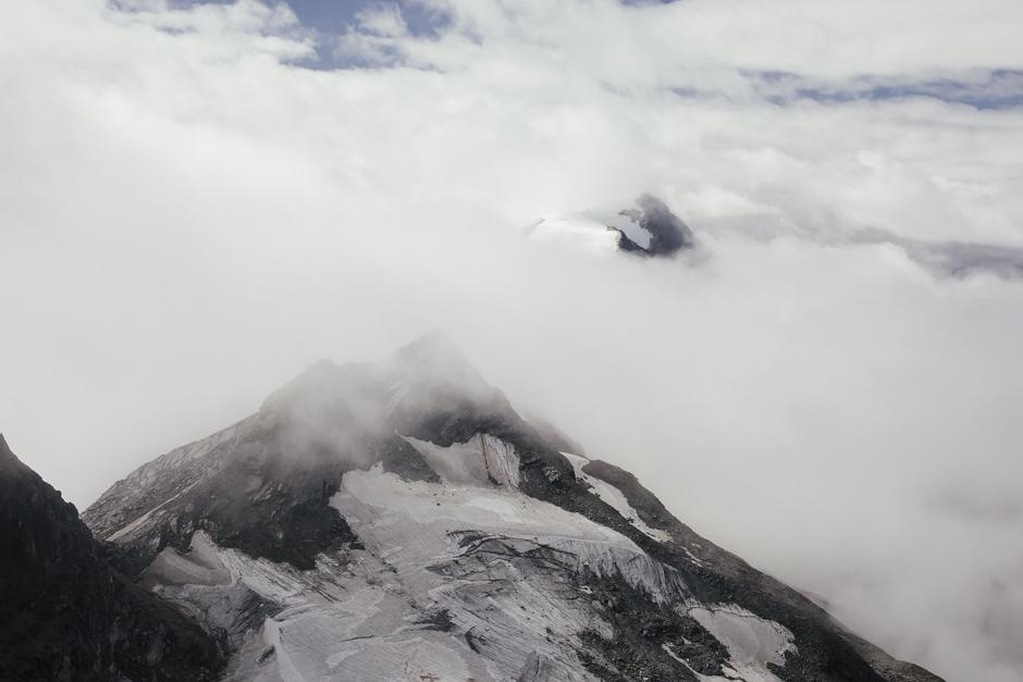 veduta dal ghiacciaio Kitzsteinhorn in Austria , 3029 m,