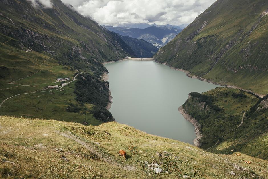 Wasserfallboden e Mooserboden, veduta dei laghi, Austria