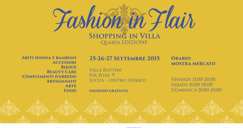 4° edizione di Fashion in Flair 2015 a Villa Bottini