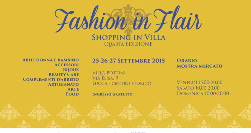 4° edizione di Fashion in Flair 2015 a Villa Bottini