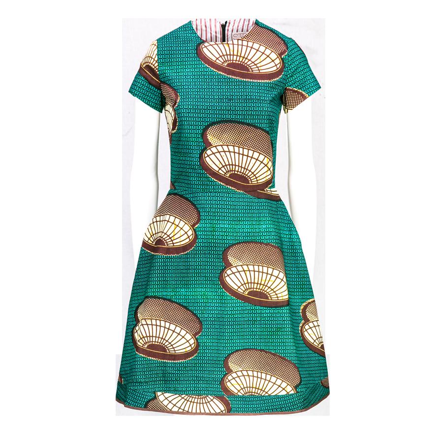 Stella_Jean_IEO_green_dress_woman_PriceOnRequest