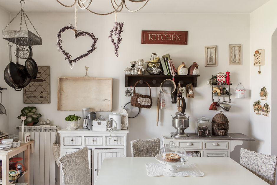 Ring and Smile,arredamento in stile shabby, cucina