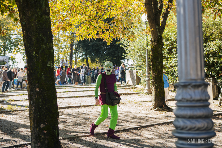 cosplayers a Lucca Comics, sulle mura
