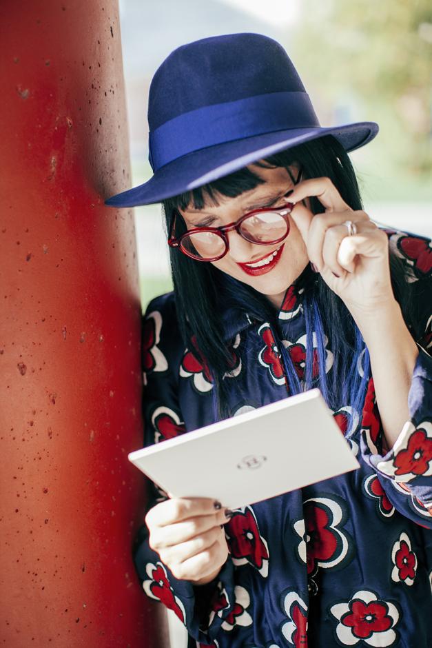 Sandra Bacci, Smilingischic, occhiali da vista Moscot