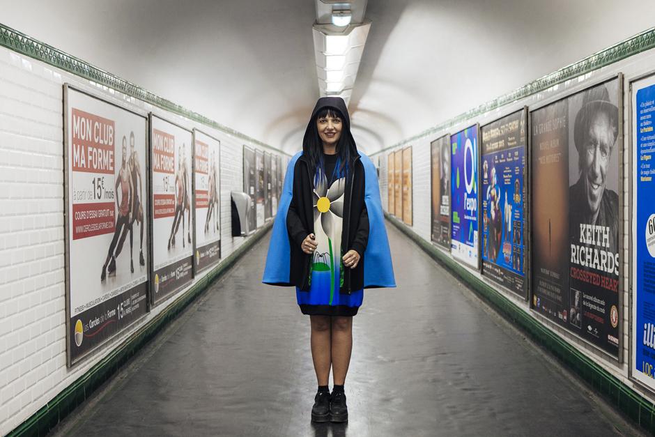Giulia Rositani F/W2 016, metro Parigi