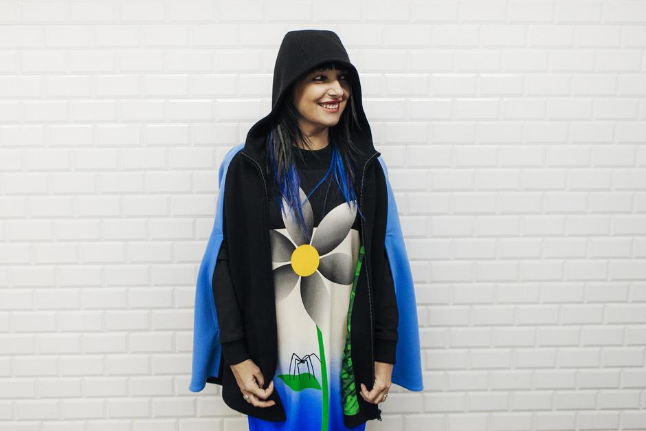 Giulia Rositani F/W2 016, abito e cappa