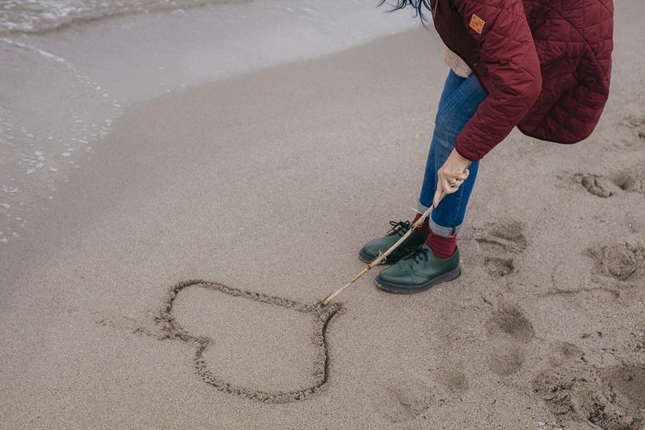 un cuore nella sabbia