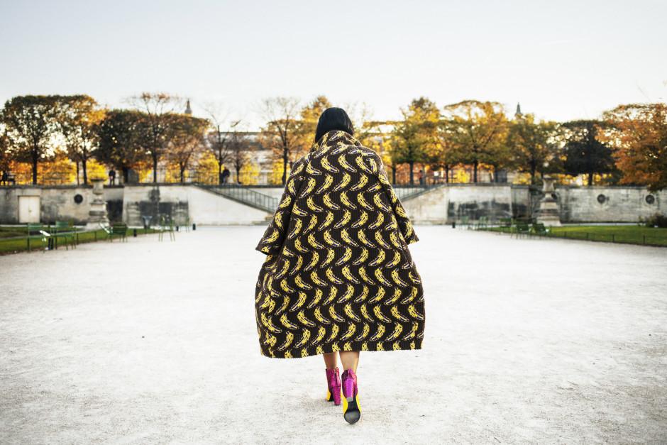 Ultràchic, cappotto con le banane
