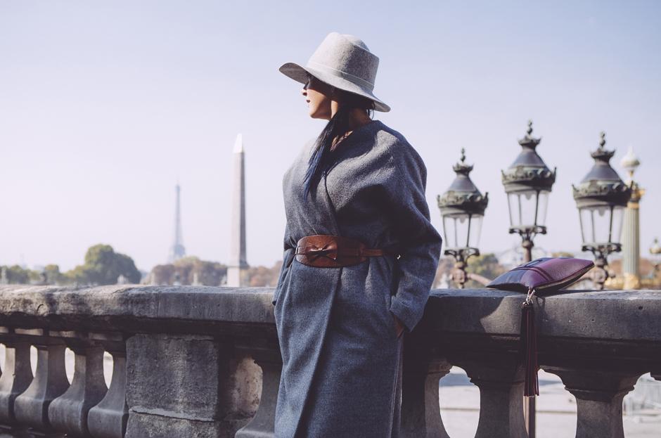 come abbinare il cappotto grigio, parigi, Sandra Bacci