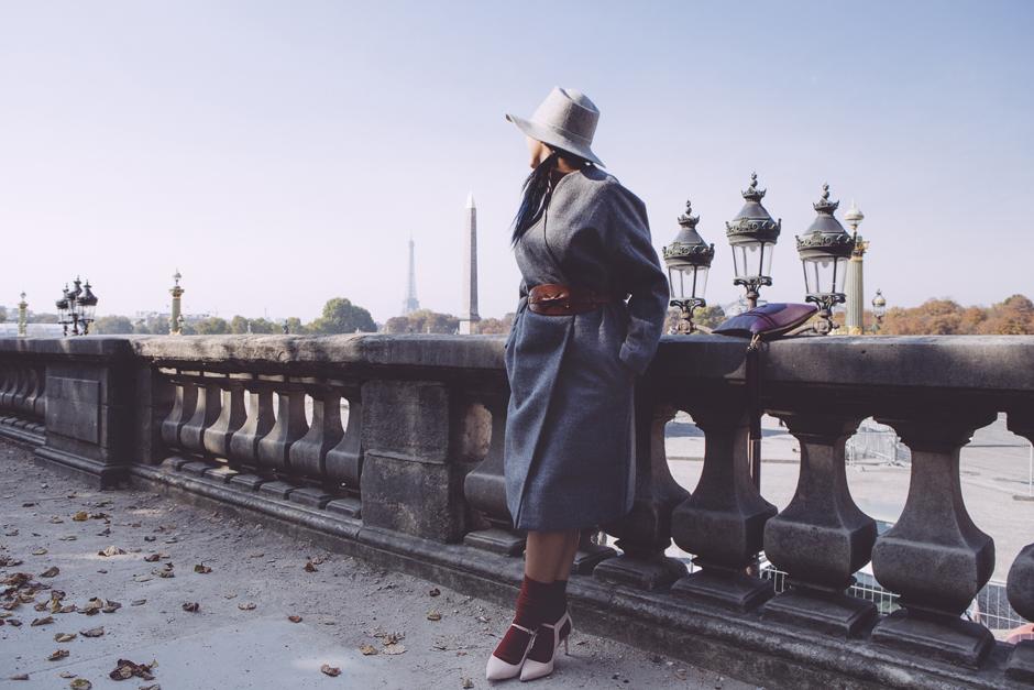 outfit elegante, parigi, come portare cappotto come un vestito