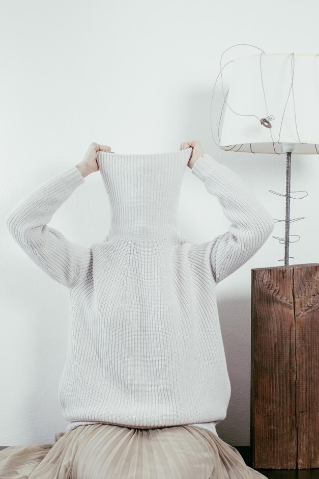 maglificio gran sasso, sandra Bacci, maglione come un rifugio
