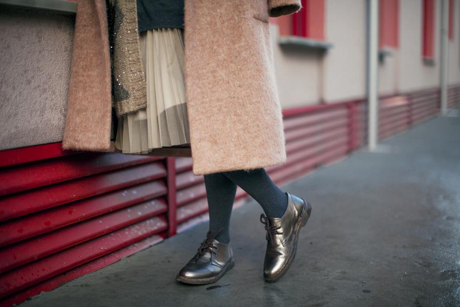 Smilingischic, scarpe stringate dorate