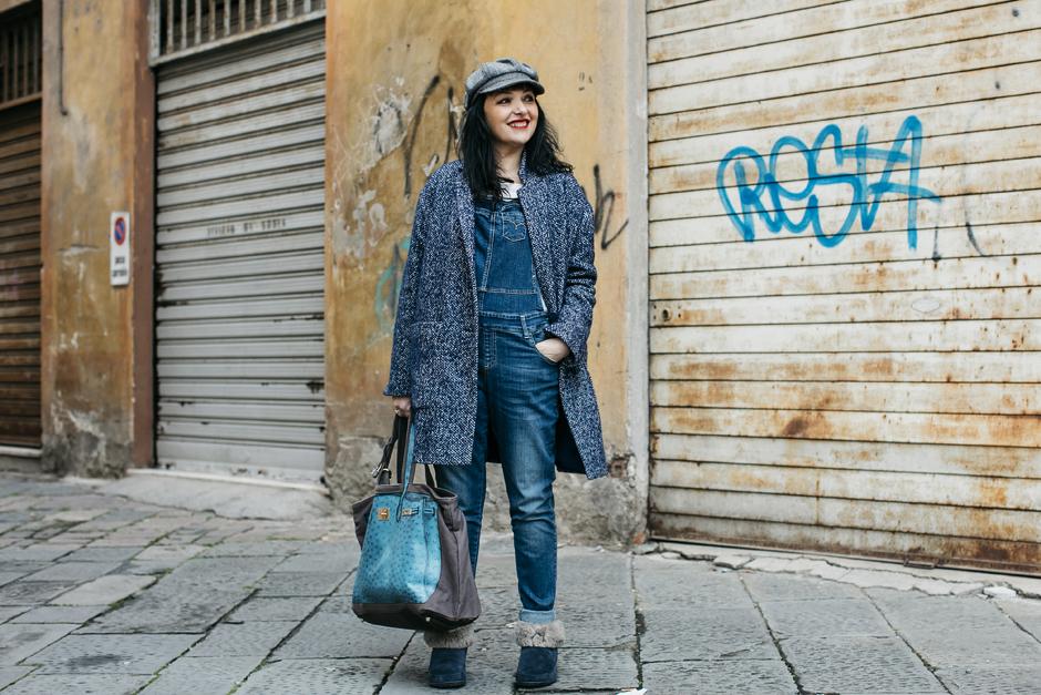 Salopette di Jeans, Smilingischic, tendenza primavera 2016, outfit