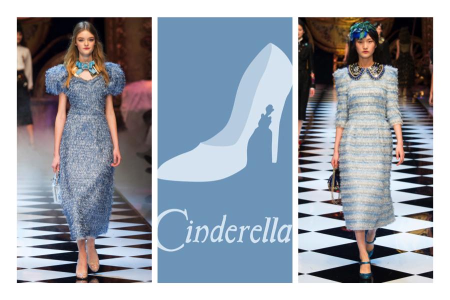 Cinderella, bit azzurri Dolce & Gabbana