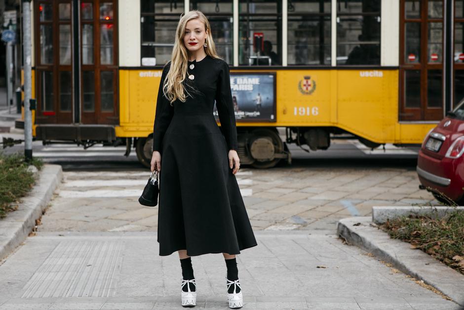 street style MFW Milano - total black