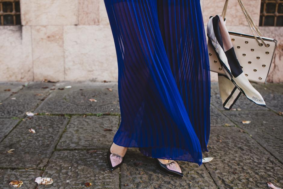 pantaloni palazzo bluette IBlues,