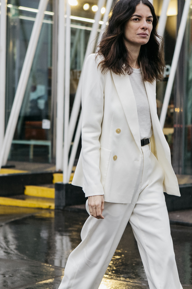 total look white , street style