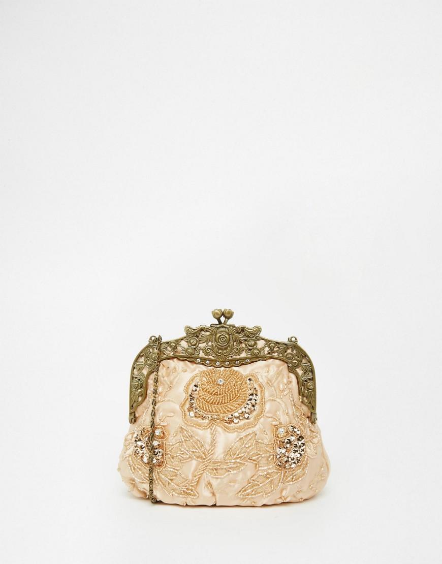 Neve & Eve - Pochette stile vintage con perline