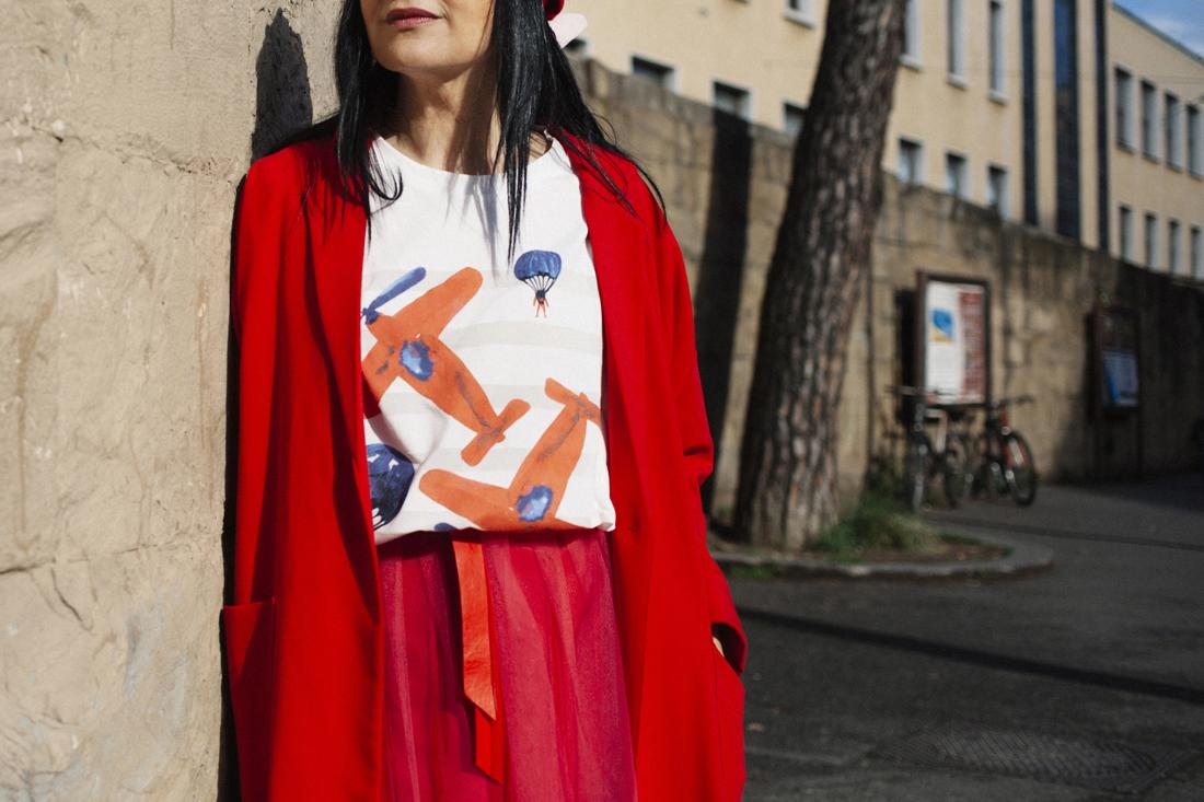 dettagli look, t - shirt giulia Rositani S/S 2016