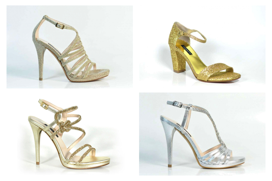 scarpe da sposa albano sandali oro e argento