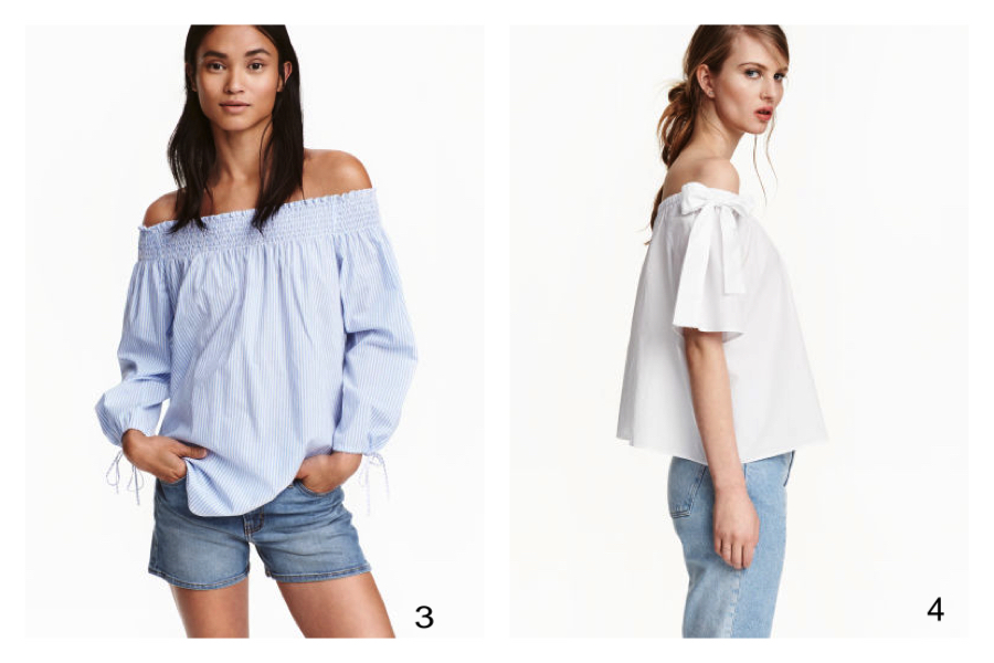 camicie spalle scoperte H&M