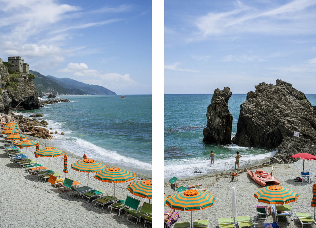 Le Cinque terre: cosa vedere in un weekend, Monterosso, spiaggia attrezzata