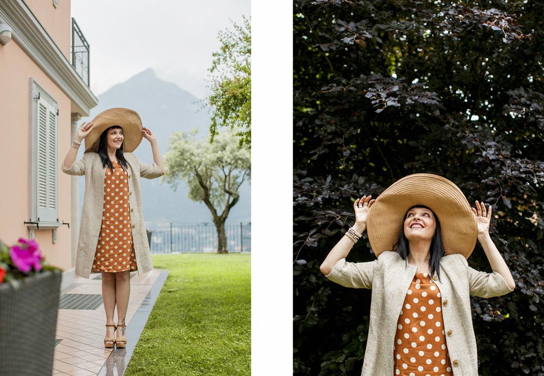 abito a pois, Nice Things, Villa Silver Lago di Como, Sandra Bacci