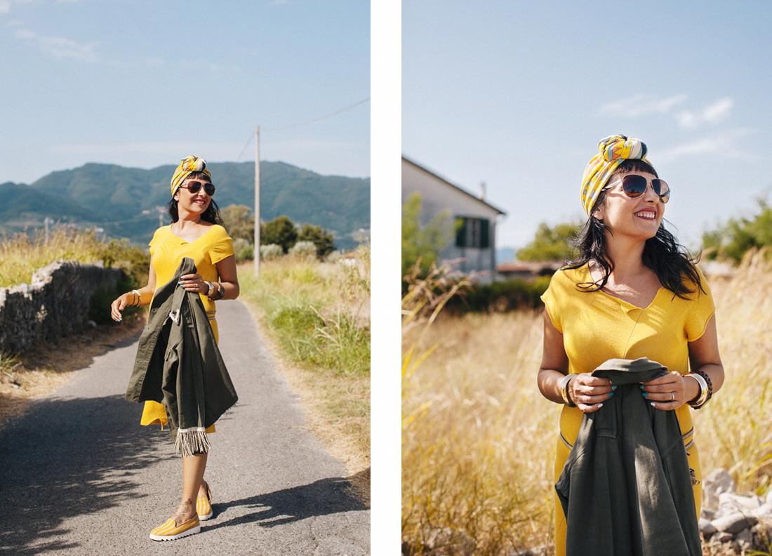 Sandra Bacci, abito giallo miawish P/E 2016
