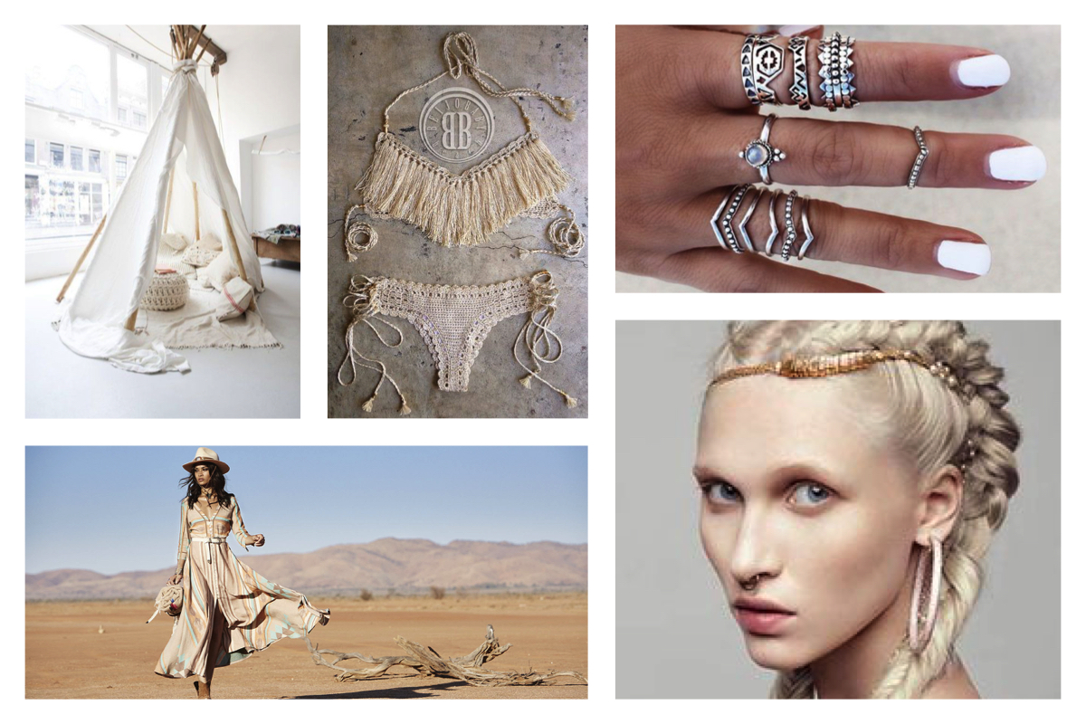 Come interpretare il nuovo folk style, moodboard folk,