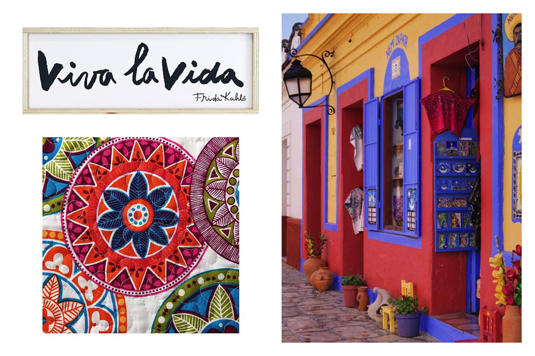 Ispirazione per una casa in stile Frida Kahlo