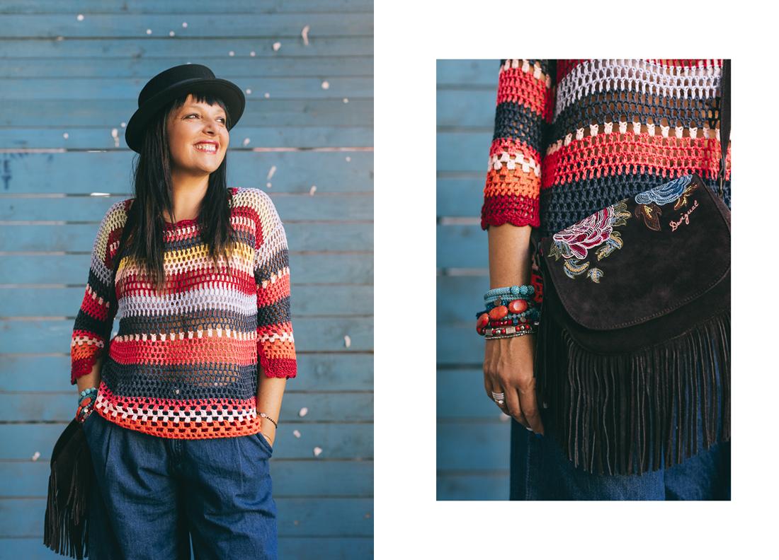 Outfit Desigual, maglia tricot