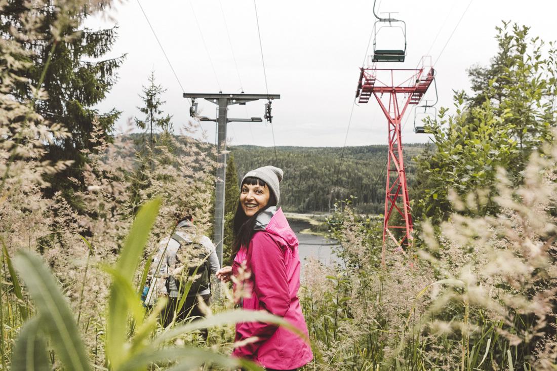 Sandra Bacci, seggiovia verso la cima dello Skuleberget