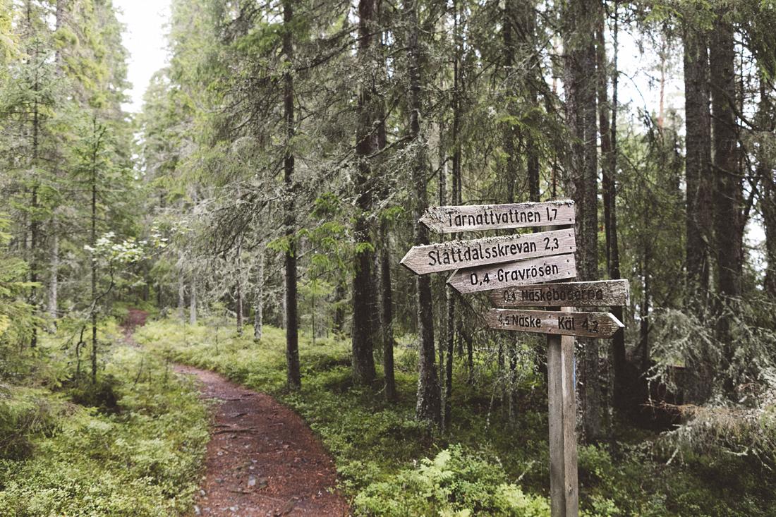 parco nazionale Skuleskogen, deviazioni