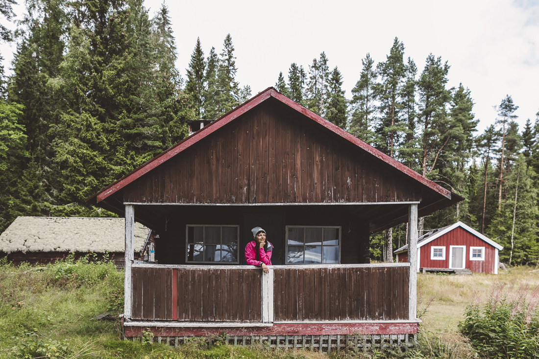 parco nazionale Skuleskogen, casa di legno rosso