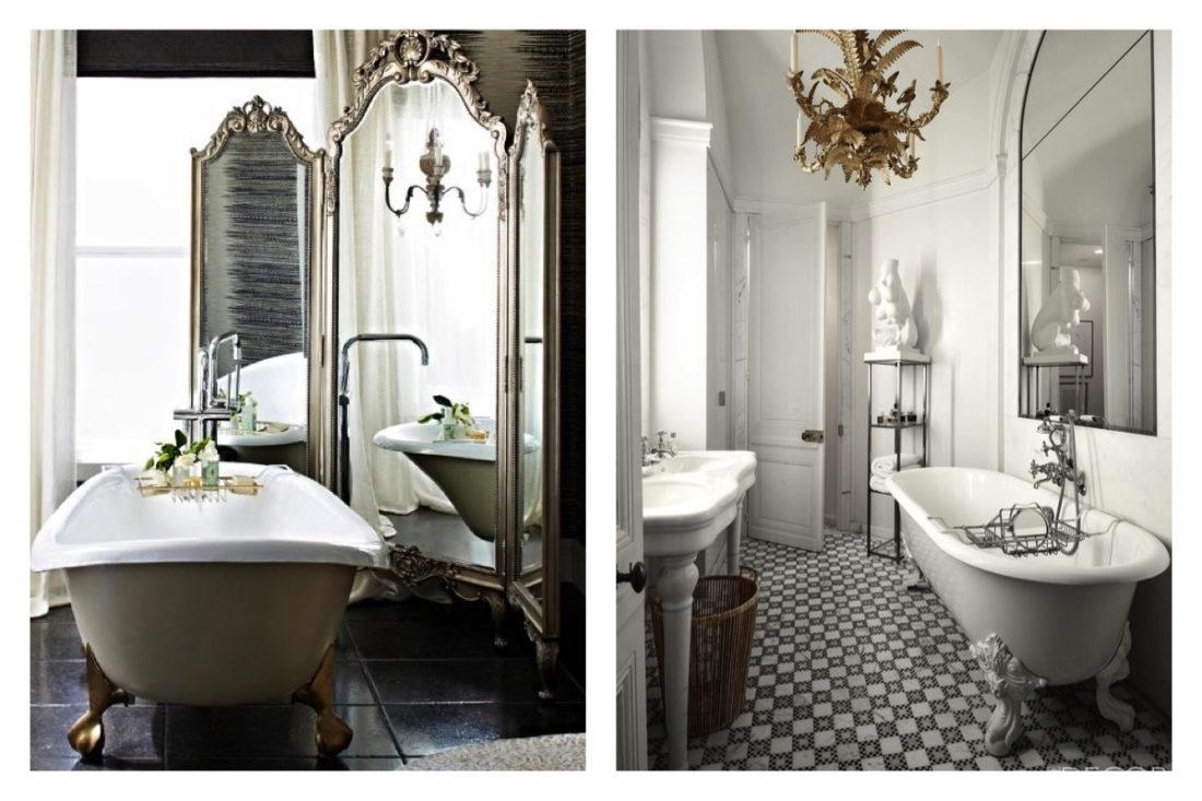 Vasche Da Bagno D Epoca : Staccata da bagno di lusso in stile liberty venezia nero bianco