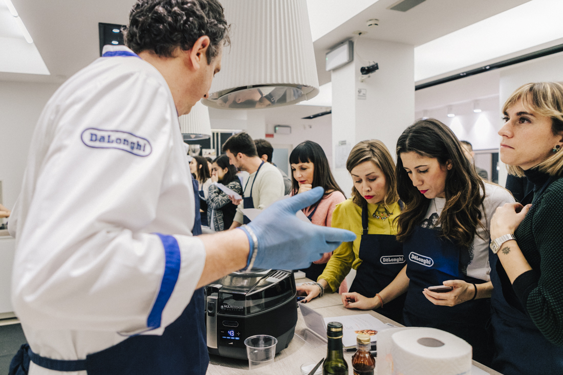 evento presentazione Multicooker De Longhi , lezione di cucina
