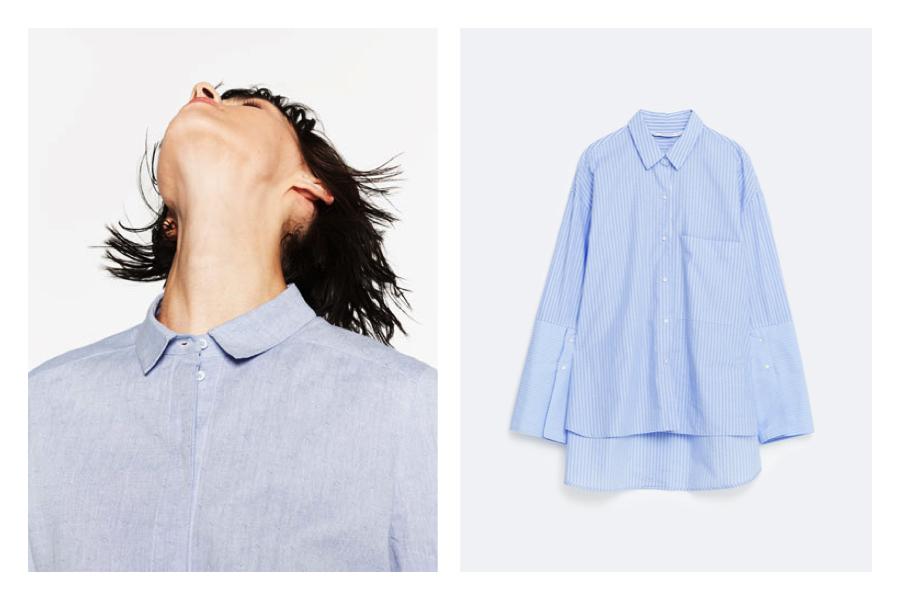 Tendenze primavera: cosa comprare a saldi da Zara- camicia righe