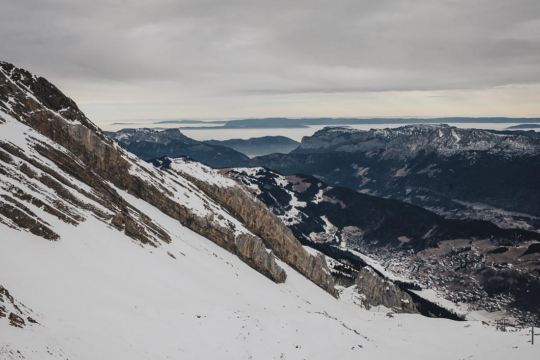 panorama invernale - La Clusaz-Alta Savoia