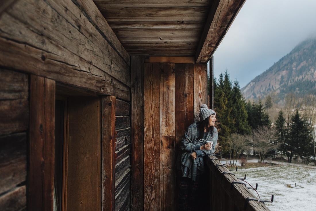 Sandra vacci-chalet in montagna