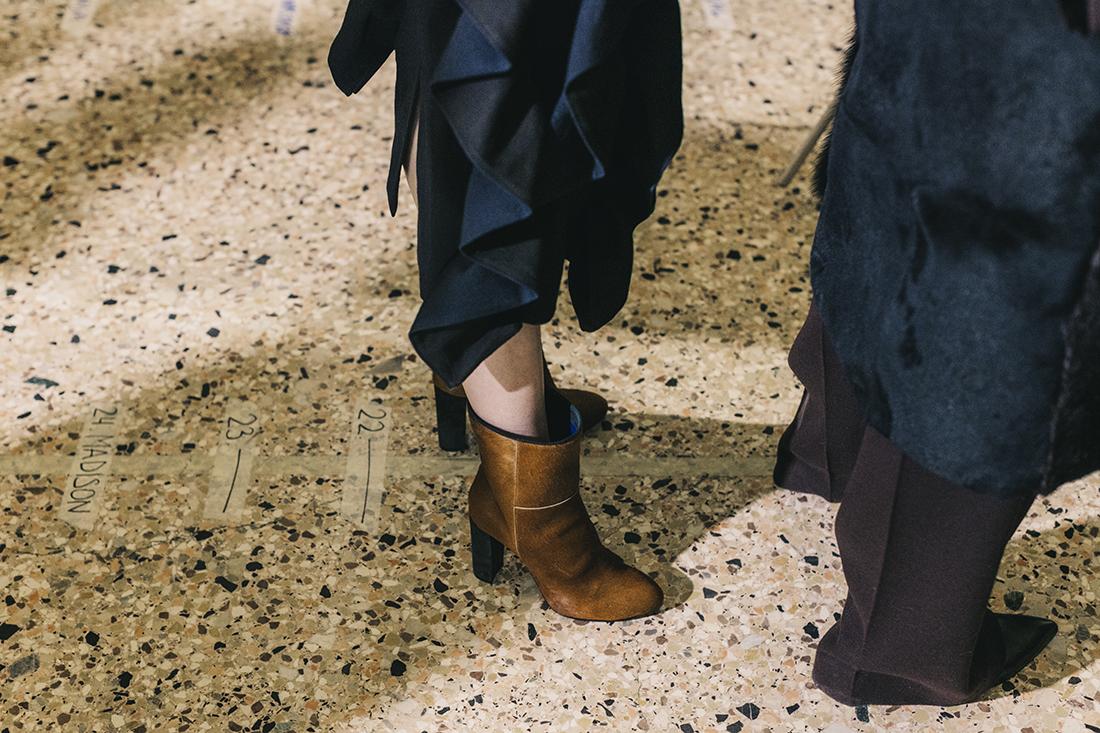 Calcaterra FW1718 -Backstage - dettaglio scarpe