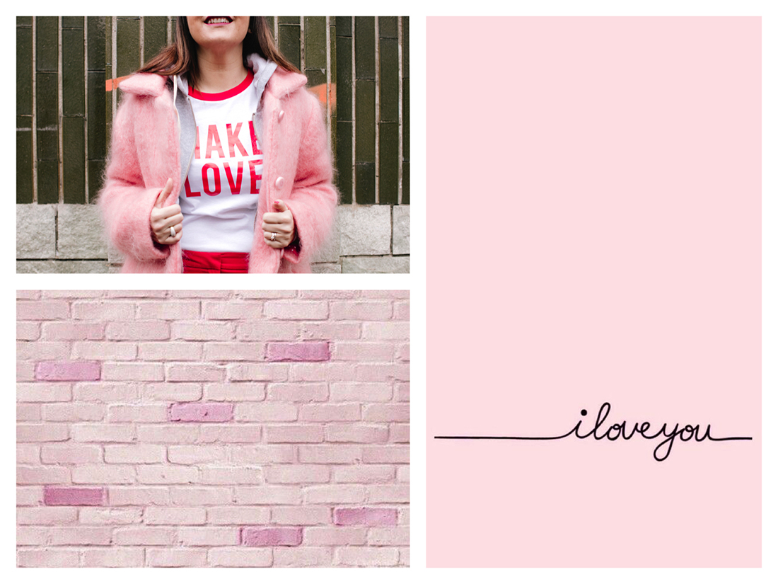 Ripartire dall'amore-collage- pink style