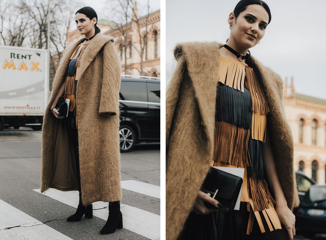 Catherine Poulain- cappotto cammello