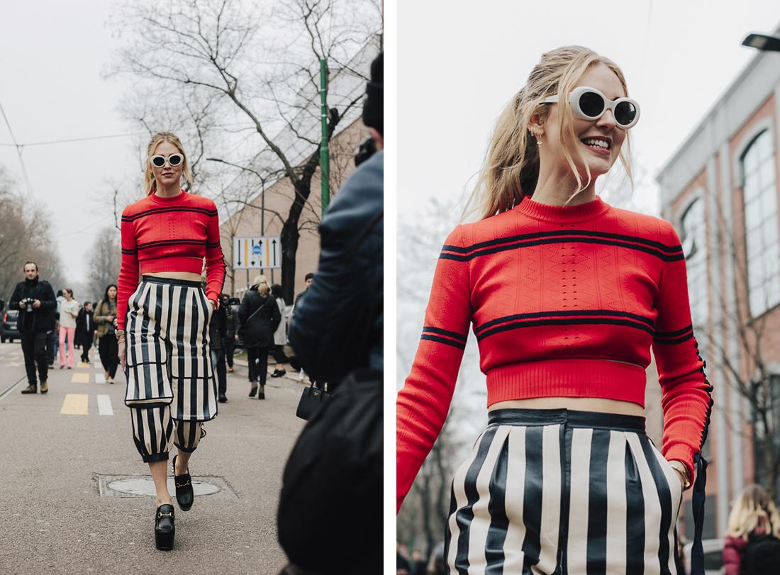 Chiara Ferragni, Street style - Best of MFW Fall Winter 2017/2018
