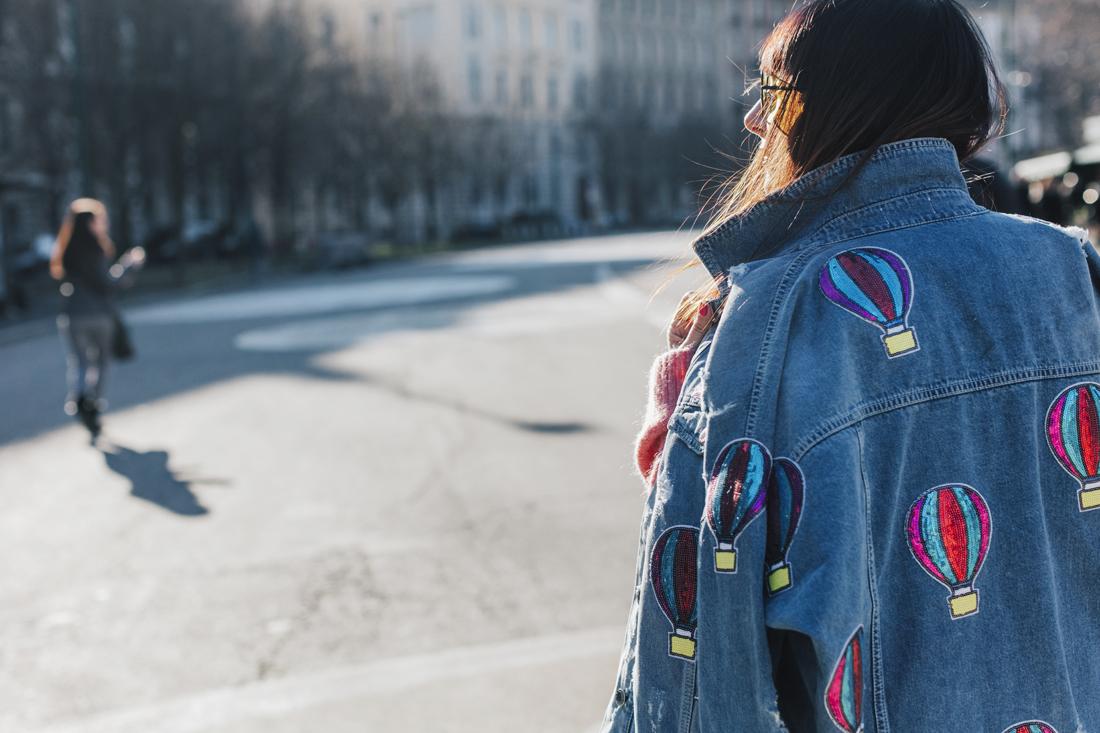 giubbotto di Jeans decorato - Constance C- Sandra Bacci